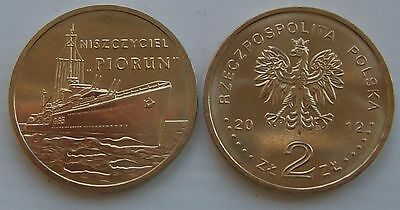 2012 - 2 zlote NG - ORP Piorun - Mint / UNC condition