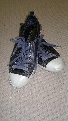Leather Fashion Sneaker-PRADA-Casual Shoes-Size 39-Walking-Unisex