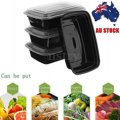 AU 10Pcs Microwave Plastic Meal Prep Container Lunch Box Food Storage Takeaway