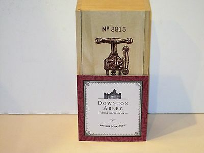 DOWNTON ABBEY - ANTIQUE CORKSCREW - WOODEN BOX - Made by Twine