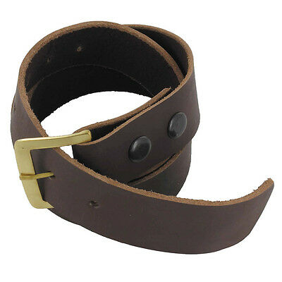 Handmade Medieval Gentry Simple Leather Renaissance Belt Brown Large