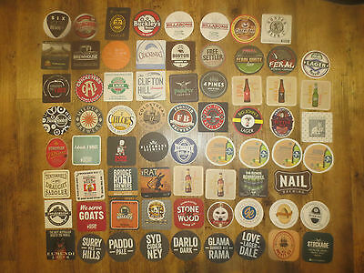 70 Different AUSTRALIAN MICRO BREWERIES Official Issue collectable  COASTERS