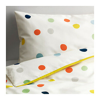 IKEA DROMLAND 166 Thread Count Quilt Cover Pillowcase Set for Cot Baby Infant