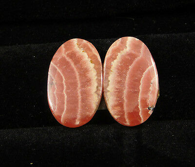 32 Cts. 100% Natural Matched Pair Of Rhodochrosite Loose Cabochon Gemstone(NH382