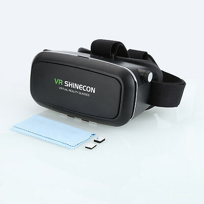 """3D Real VR SHINECON 3D Virtual Glasses Viewer Movie Game For 3.5""""-6"""" Smartphones"""