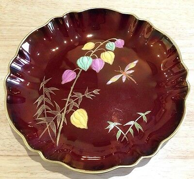 Rare Carlton Ware Rouge Royale Dragonfly Bowl