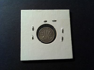 1943 Australian Threepence (3d) in 2x2 Holder