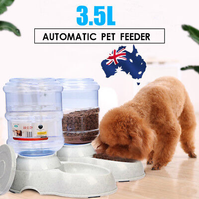 3.5L Liters Large Automatic Feeder Pet Dogs Cat Water Drinker Dispenser Bowl AU