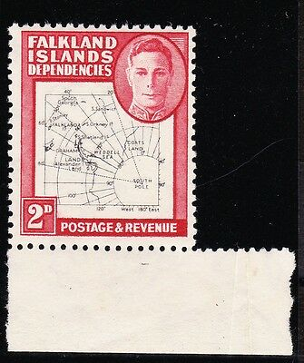FALKLAND ISLANDS DEPS. 1948 2d WITH 'MAP DOUBLE' CW 43a MNH.