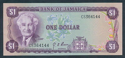 Jamaica: 1976 $1 Sig. Brown SIR ALEXANDER BUSTEMANTE Portrait. Pick 59a, UNC