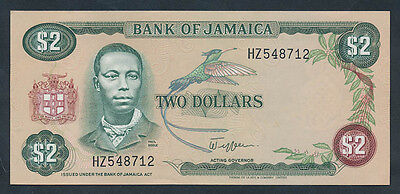 Jamaica: 1982 $2 Signature Jefferson PAUL BOGLE Portrait. Pick 65a, UNC*