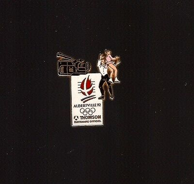 Pin'S Ski Jeux Olympiques Albertville Patinage Thomson Duchesnay 1992 ****