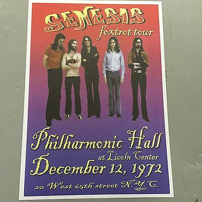Genesis - Concert Poster Foxtrot Tour New York 12Th December 1972  (A3 Size)