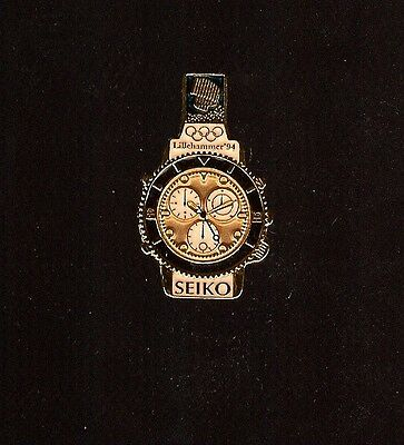 Pin'S Jeux Olympiques Prototype Montre Seiko Lillehammer 1994 *****