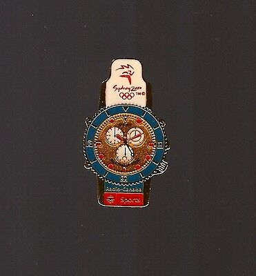 Pin'S Jeux Olympiques Montre Sports Radio Canada Sydney 2000 *****