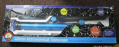 Discovery Kids 40mm Astronomical Telescope NEW OPEN PACKAGING