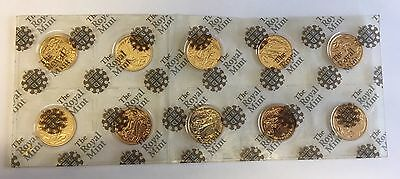 10 x 2012 FULL GOLD SOVEREIGN COINS DIAMOND JUBILEE ROYAL MINT SEALED