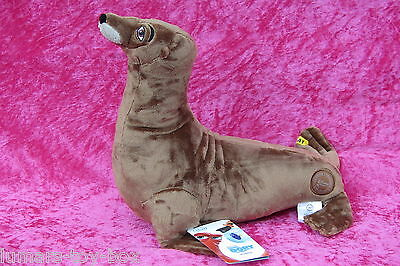 "Genuine Disney Store Pixar Finding Dory RUDDER SEALION 13"" Soft Plush Toy NEW"