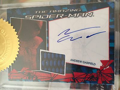 Spider-Man Andrew Garfield Peter Parker Autograph Auto Costume Card