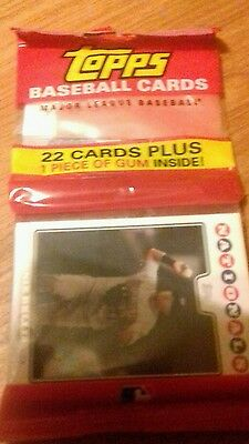 Topps Baseball cards 22 cards plus gum unopened