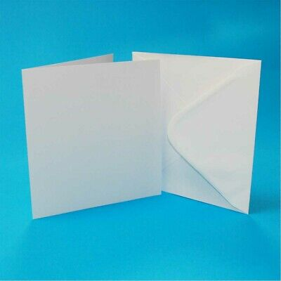 50 Cards and Envelopes White 6 x 6-Inch