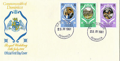 DOMINICA 23 July 1981 ROYAL WEDDING FIRST DAY COVER