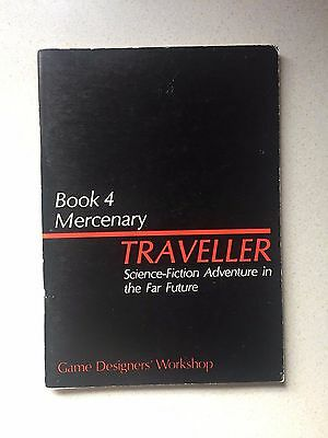 Traveller RPG Roleplaying Game 1978 1st Edition Book 4 Mercenary - Fast Post