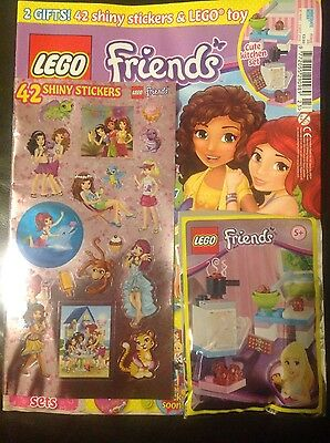 LEGO friends Magazine #23 - 2 GIFTS! SHINY STICKERS & LEGO TOY! (BRAND NEW)