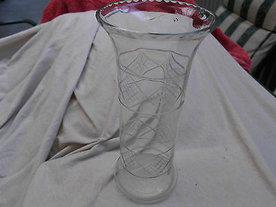 Crystal Cut Glass Vase Vintage Retro Pall Mall Style
