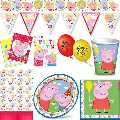 14 x peppa wutz pig schwein familie george mama daddy baby for Kindergeburtstag party set
