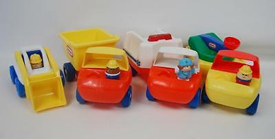 VTG Little Tikes TODDLE TOTS CONSTRUCTION & EMERGENCY VEHICLE SET WITH PEOPLE