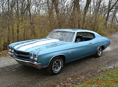 1970 Chevrolet Chevelle 2 DOOR HARDTOP 1970 CHEVELLE SS 454 SOLID AND STRAIGHT SHARP NEW FACTORY ASTRO BLUE VERY NICE