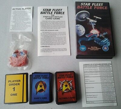 Mint Complete ADB Star Fleet Battle Force Card Game (Star Trek RPG)