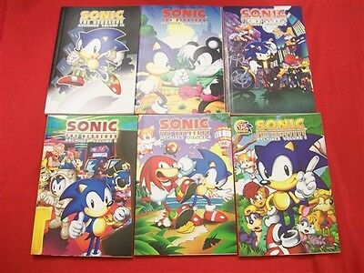 Sonic Hedgehog Archives Vol.1-12 Archie Video Game Tpb Comic Lot 2009-2010 Nm