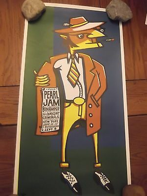 1998-PEARL-JAM-Poster-09-08-98-E-Rutherford-NJ-09-10-11-98 AMES BROS 14x26