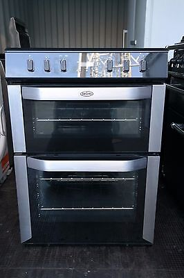 Belling FSE60DOP 60cm Wide Double Oven Electric Cooker in Stainless Steel