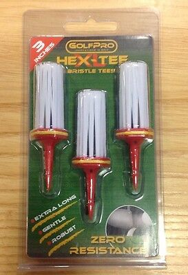 "3"" Xl Hex- Tee Bristle Brush Golf Tee"