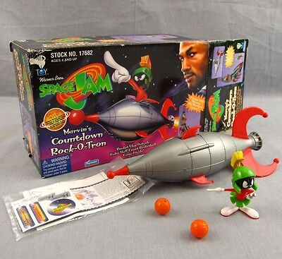 Space Jam Marvin's Countdown Rock-O-Tron 1996 Space Jam Marvin the Martian Toy