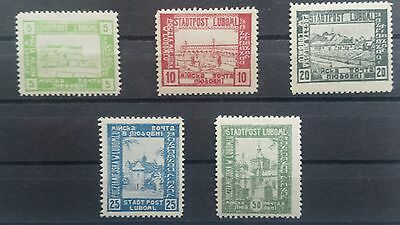 Poland Polen stamps collection state Stadtpost Luboml valuable collection
