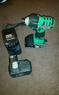 Hitachi WH18DL 18V Cordless Impact Driver With 3 x batteries charger