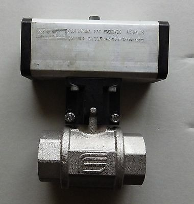 "Omal 1 1/4""BSP 2 Way Double Acting Pneumatic Actuated Ball Valve    D101H007"