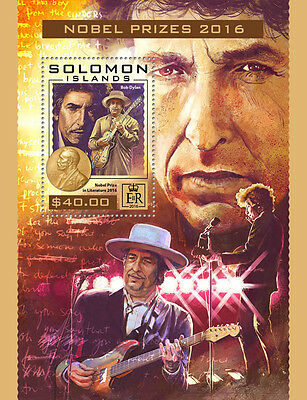 SOLOMON ISLANDS 2016 ** Nobel Prizes 2016 Literature Bob Dylan S/S #422b