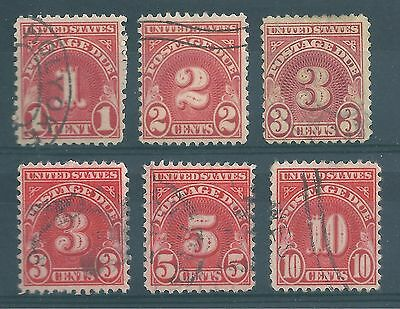 U S A  small selection of postage due stamps.