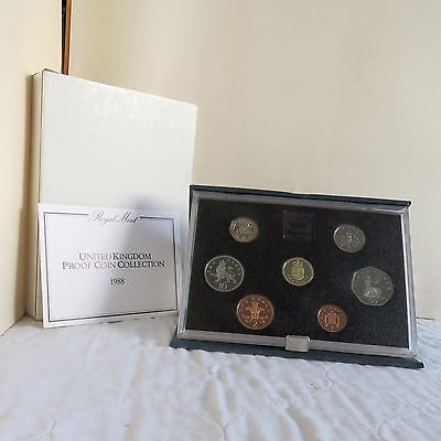 1988 UNITED KINGDOM ROYAL MINT 7 COIN PROOF SET - boxed/coa/outer