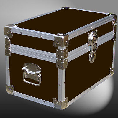 Leatherette Tuck Box Storage/boarding School/shipping/trunk Case Chest Furniture