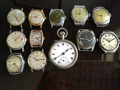 A Dealers Lot Of 12 Vintage Watches For Spares/ Repair, Very Nice Lot