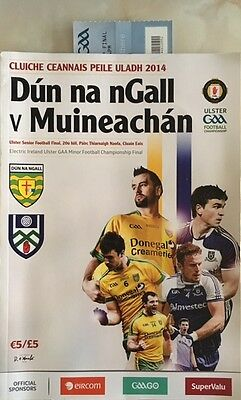 2014 Ulster senior football final (with ticket) Donegal v Monaghan