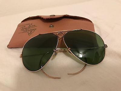 Rare Ray Ban vintage Pilot Aviator Sunglasses COLLECTIBLES Gold Filled 1940s