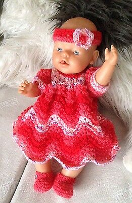 """Hand Knitted Dolls Clothes Fit Baby Annabell 18""""-19"""" Similar"""