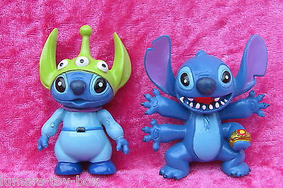 Disney Lilo & Stitch FOUR-ARMS & TOY STORY ALIEN 2 x 7cm Figures Cake Toppers